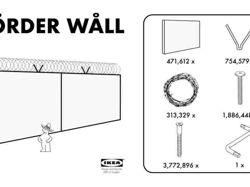 Des designers créent la notice Ikea pour le mur à 20 M$ que Donald Trump promet entre les Etats-Unis et le Mexique
