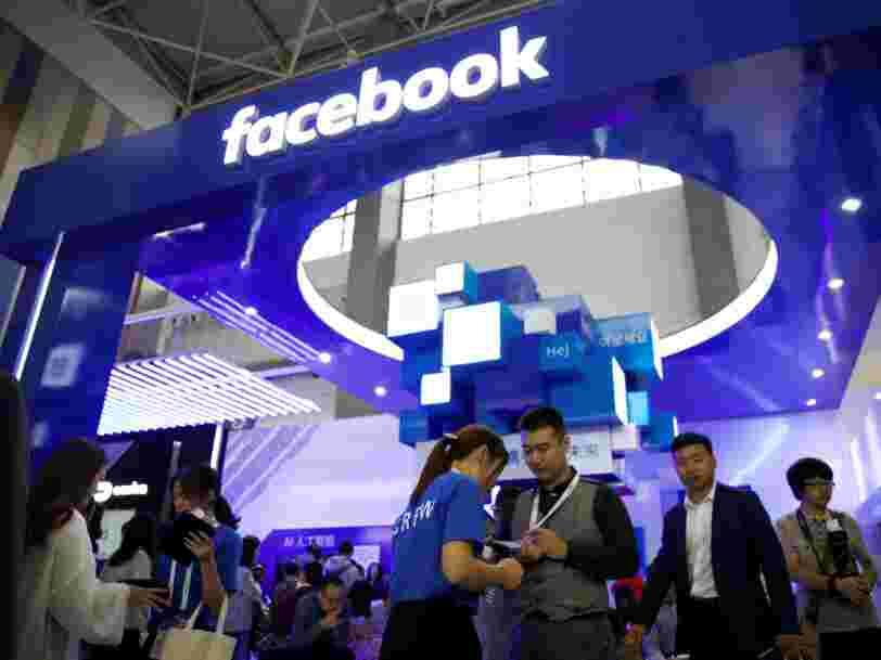 Facebook a partagé des données sur ses utilisateurs avec au moins 4 entreprises chinoises