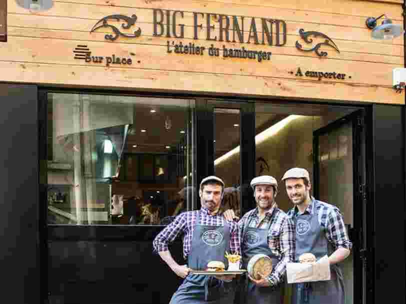 La chaine de burgers français Big Fernand n'a pas grossi autant qu'elle le souhaitait — elle doit se vendre à un fonds britannique