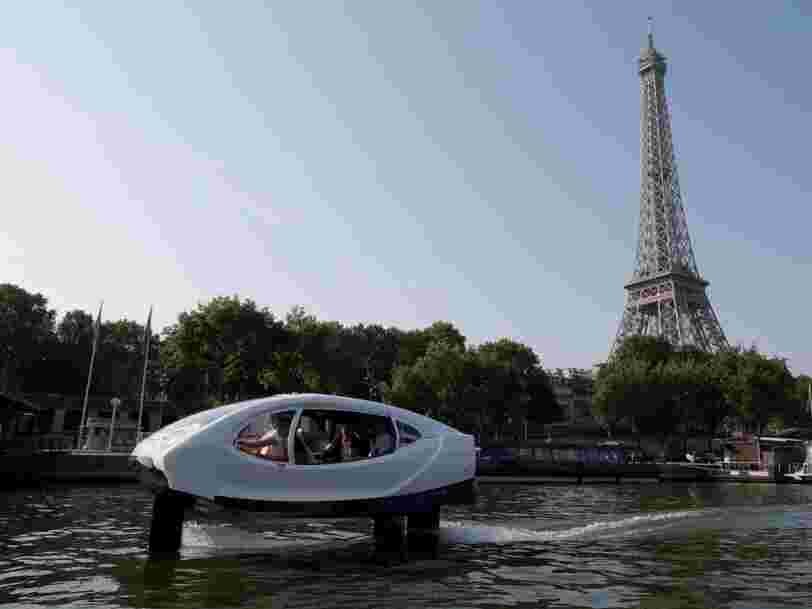 Uber a fait une offre à la startup française Sea Bubbles il y a 2 ans pour proposer ses bateaux-taxis directement dans son appli