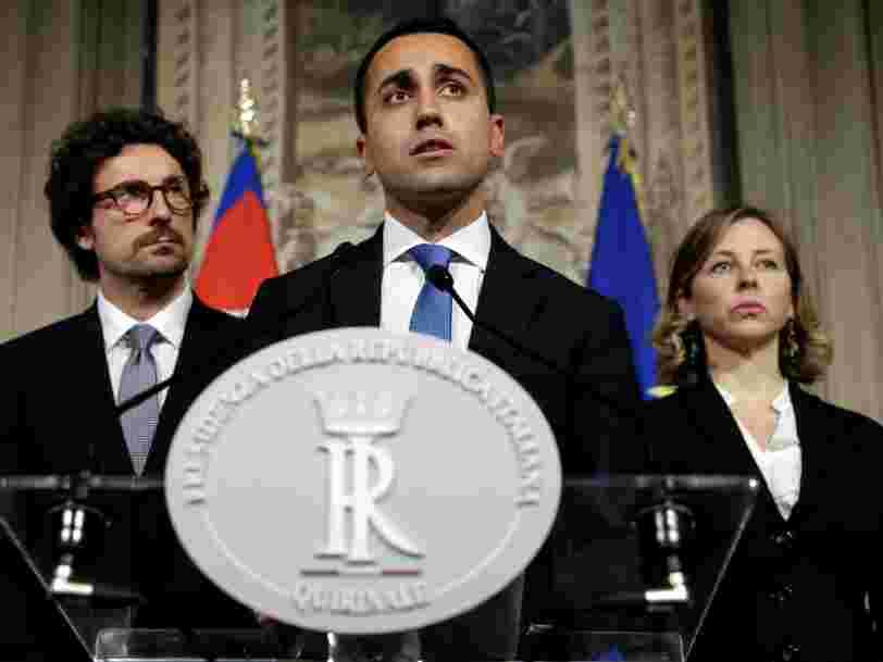 L'Italie peut devenir 'un sérieux problème pour les marchés financiers et l'euro' si les 2 partis antisystème mettent en œuvre leurs projets fous