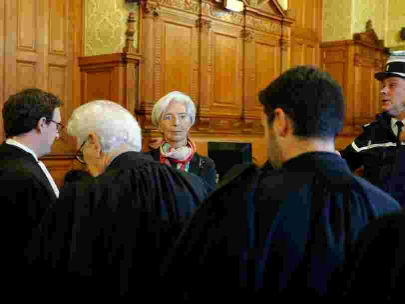 Christine Lagarde est reconnue coupable mais 'condamnée à rien' dans l'affaire Bernard Tapie-Crédit Lyonnais