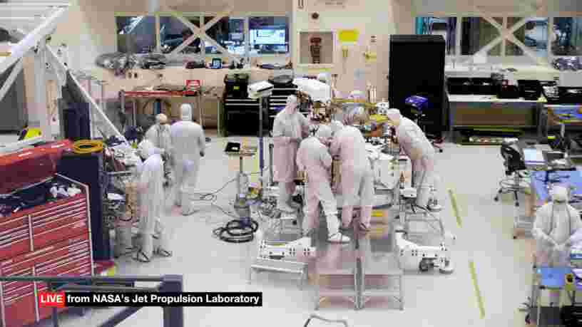 La NASA vous permet de suivre la construction d'un rover grâce à une vidéo en direct