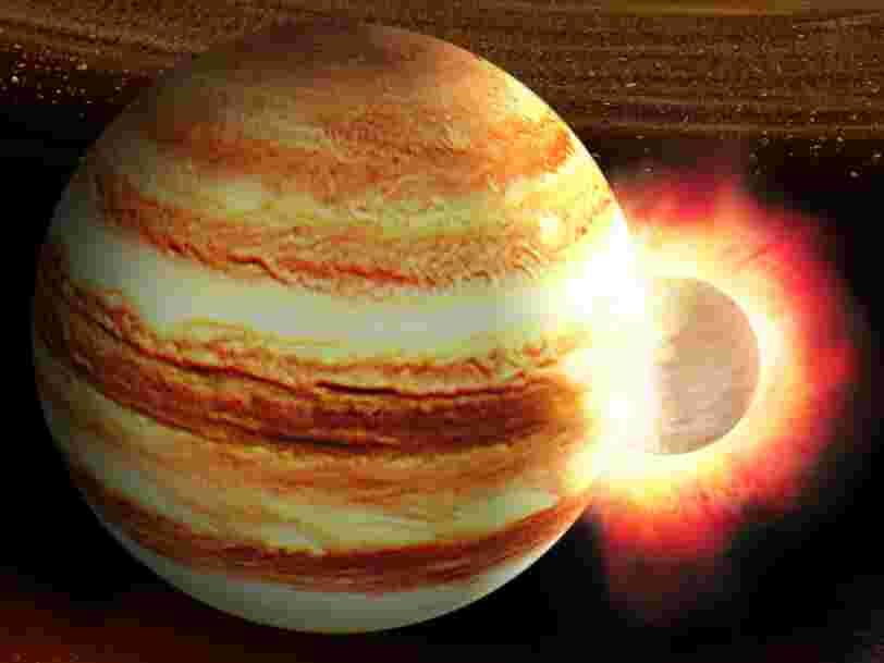 Jupiter aurait été frappée par une planète avec une masse 10 fois plus grosse que celle de la Terre il y a des milliards d'années