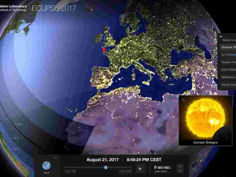 Voici ce que vous verrez de l'éclipse totale depuis de rares endroits en France