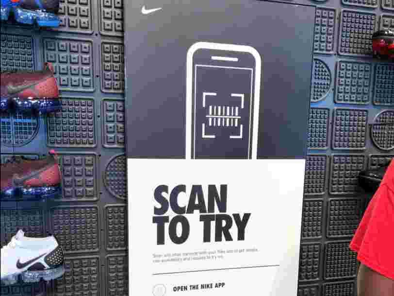 Nike a dévoilé une nouvelle méthode pour vous permettre d'essayer des sneakers dans ses boutiques sans parler à personne — voici comment ça marche