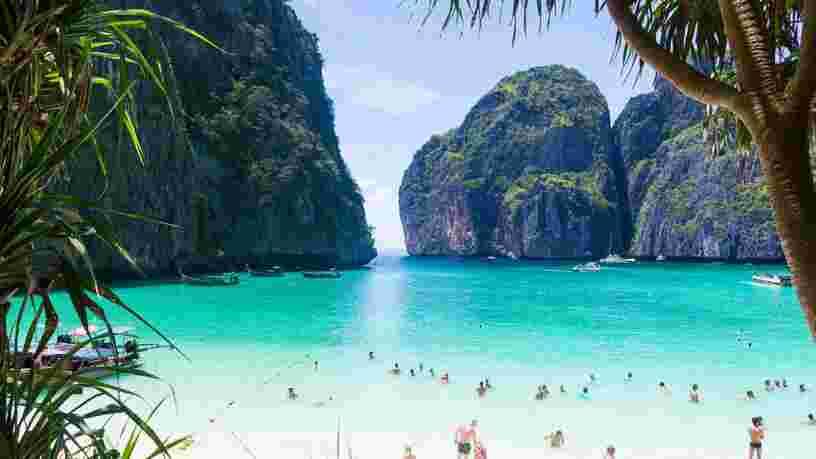 La célèbre plage thaïlandaise du film 'La Plage' va fermer à cause des dégâts causés par les touristes trop nombreux