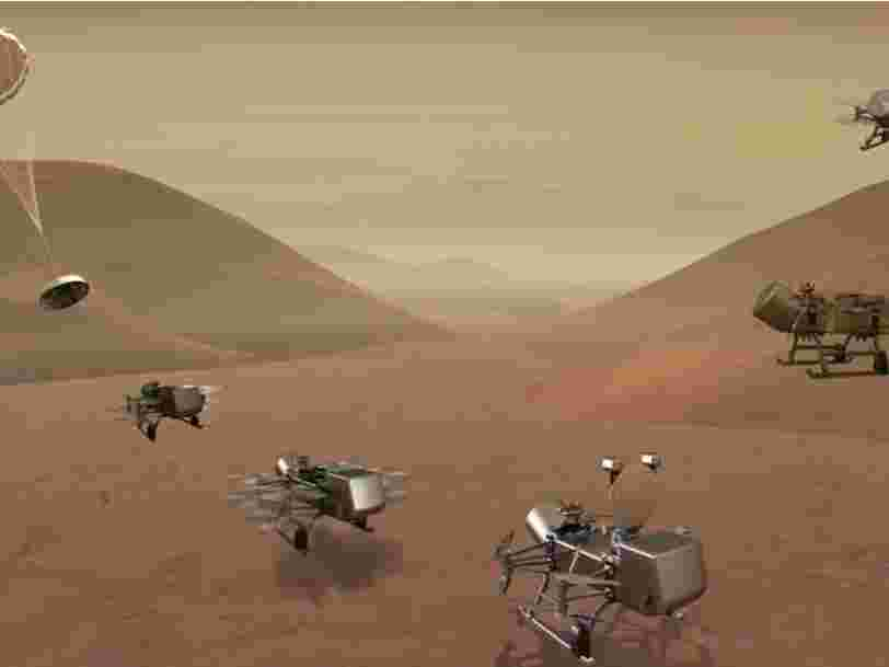 La prochaine mission de la NASA : chercher une vie extraterrestre sur Titan avec un hélicoptère à propulsion nucléaire