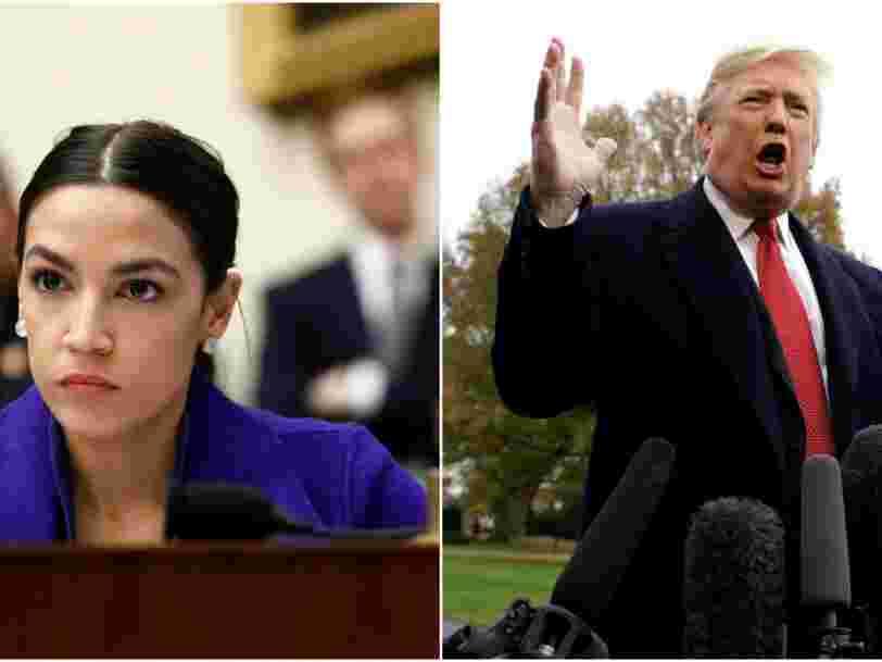 """Alexandria Ocasio-Cortez répond à Donald Trump qui demandait à certains élus démocrates de rentrer dans les pays """"d'où ils viennent"""""""