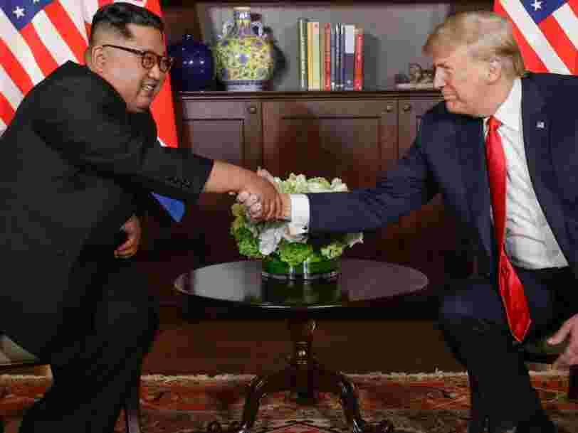 Le président américain Donald Trump et le dirigeant nord-coréen Kim Jong-un se sont rencontrés pour la première fois lors d'un sommet historique à Singapour