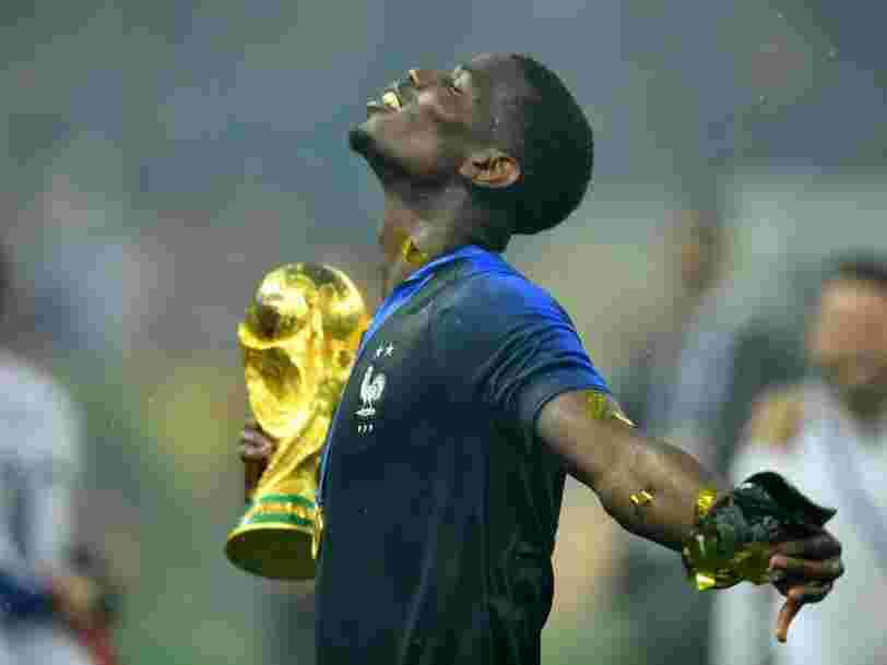 EN IMAGES: Les Français jubilent après que l'équipe de France remporte la finale de la Coupe du monde de foot en Russie