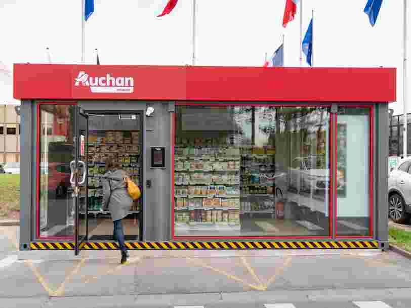 Auchan dégaine en premier son magasin tout automatique, mais Carrefour est dans son sillage