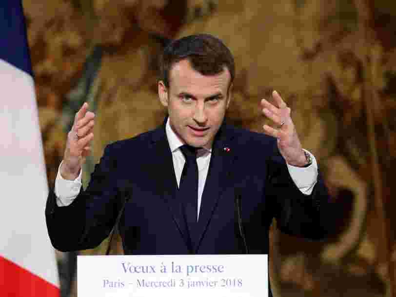 Emmanuel Macron annonce une loi contre les informations volontairement mensongères propagées sur internet — il y aura 4 sanctions possibles