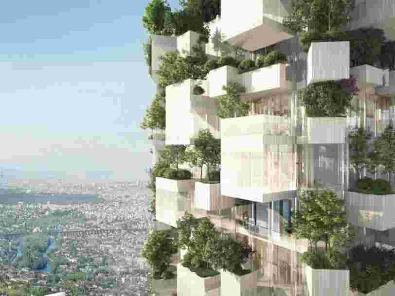 La région parisienne aura bientôt sa tour en bois avec 2000 plantes surnommée 'Forêt Blanche'