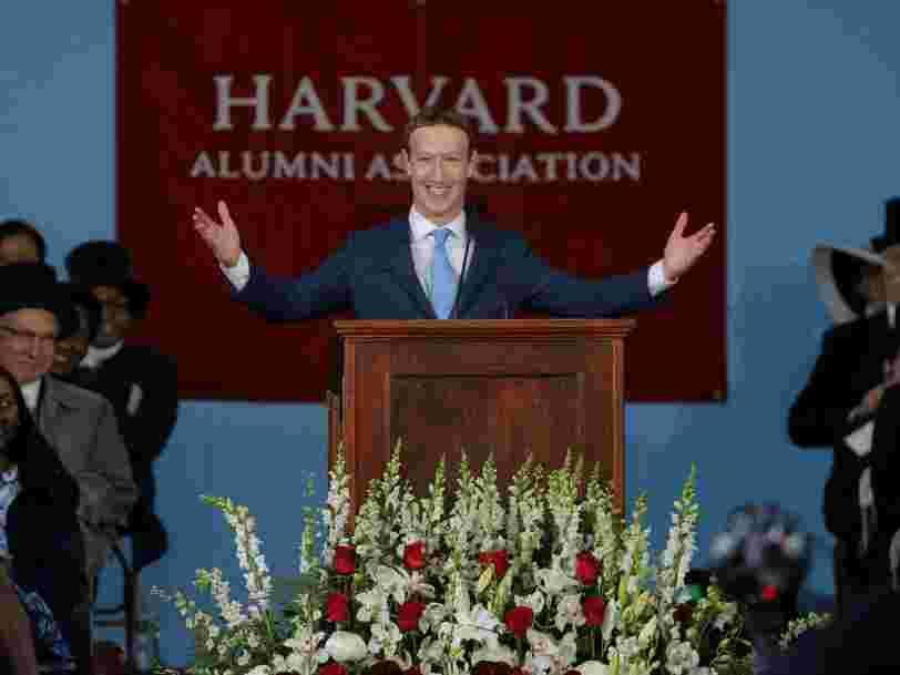 Mark Zuckerberg se dit en faveur du revenu universel pour que 'chacun ait un coussin de sécurité pour tester de nouvelles idées'
