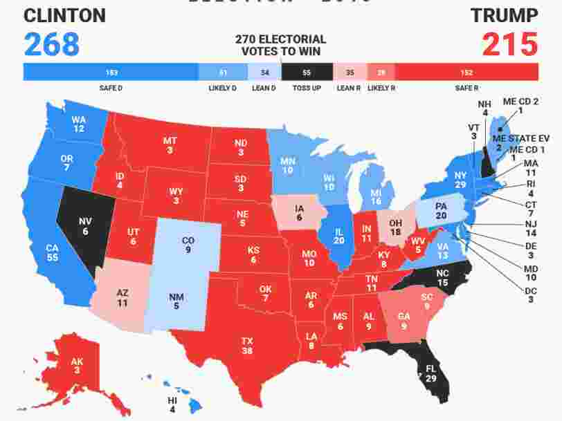 Présidentielle américaine : le suspense durera jusqu'au bout — le pronostic final de Business Insider