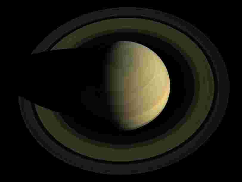 La NASA a dévoilé une remarquable image 'mosaïque' de Saturne en guise d'adieu à la mission Cassini de 3,26Mds$