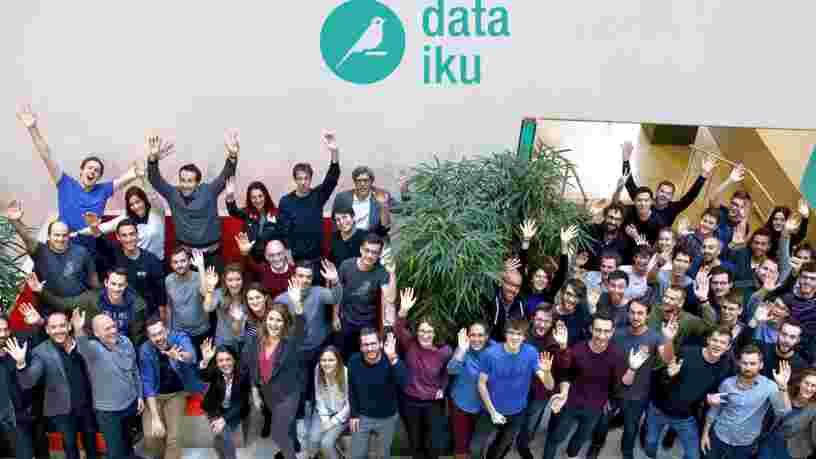 Dataiku réalise une 3e levée de fonds de plus de 100 M$ avec pour ambition de devenir le leader des logiciels d'IA, derrière les grands acteurs comme Microsoft et IBM