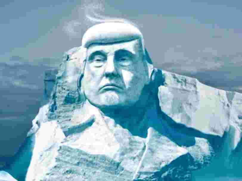 Une ONG finlandaise lance une campagne de crowdfunding pour sculpter le visage de Donald Trump sur un iceberg — regardez leur projet militant en vidéo