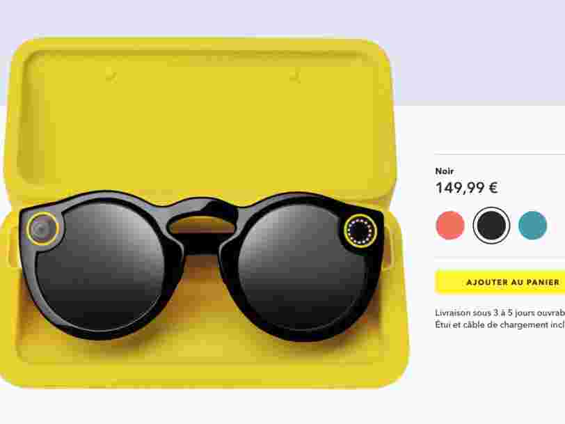 Les lunettes connectées de Snapchat sont disponibles en France — voici comment se les procurer