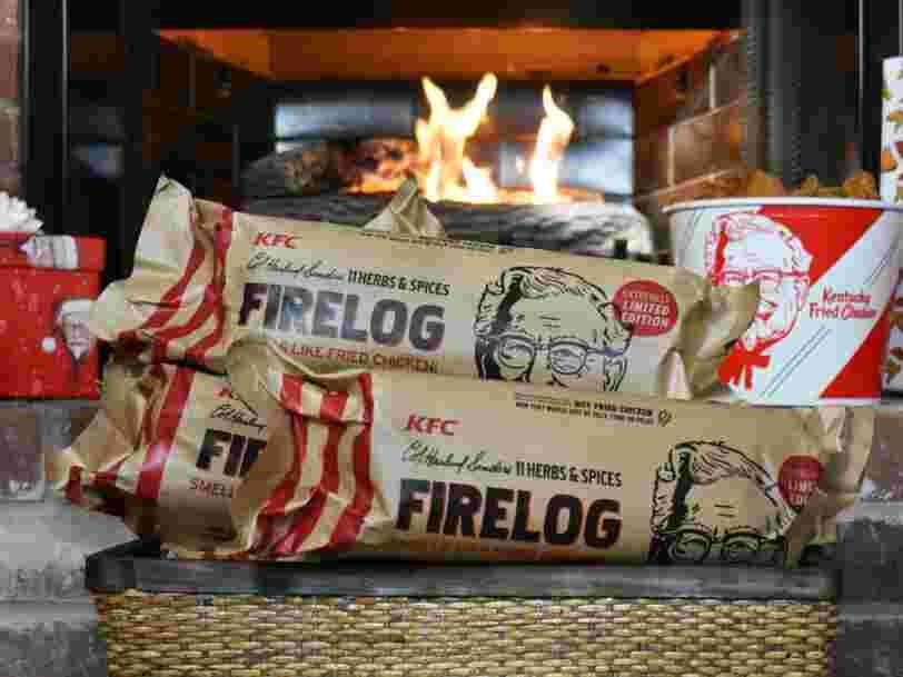 KFC vend une bûche de bois qui sent le poulet frit pour les fêtes de fin d'année
