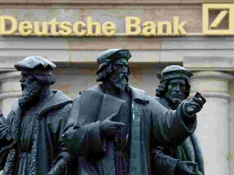 Les actions Deutsche Bank sont montées en flèche après l'accord de $7 Mds conclu avec la justice américaine