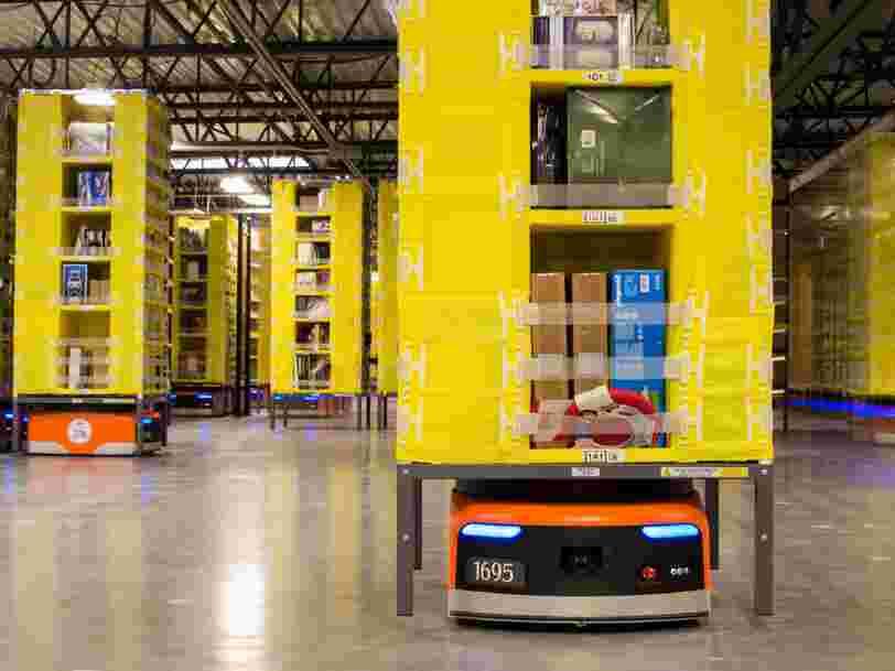 Les gens sont horrifiés par un brevet d'Amazon qui met les employés en cage — mais un dirigeant dit que même les 'mauvaises idées' sont déposées