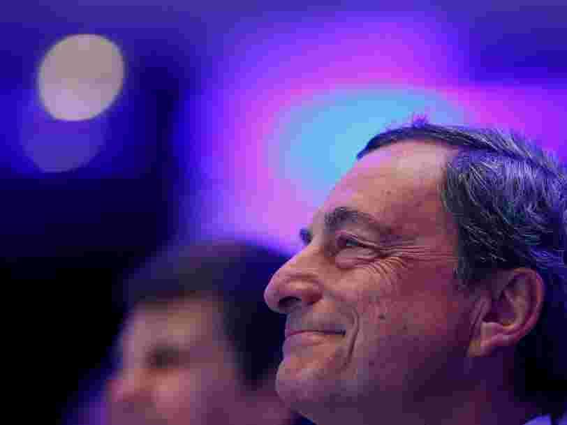 Il y a 3 raisons d'être optimiste pour la croissance en Europe, estime Mario Draghi