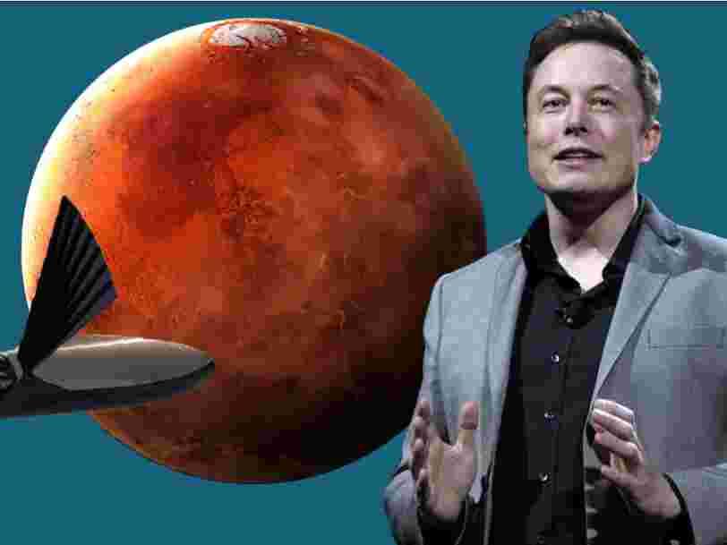 Elon Musk a présenté un nouveau plan amélioré pour coloniser Mars avec une fusée réutilisable