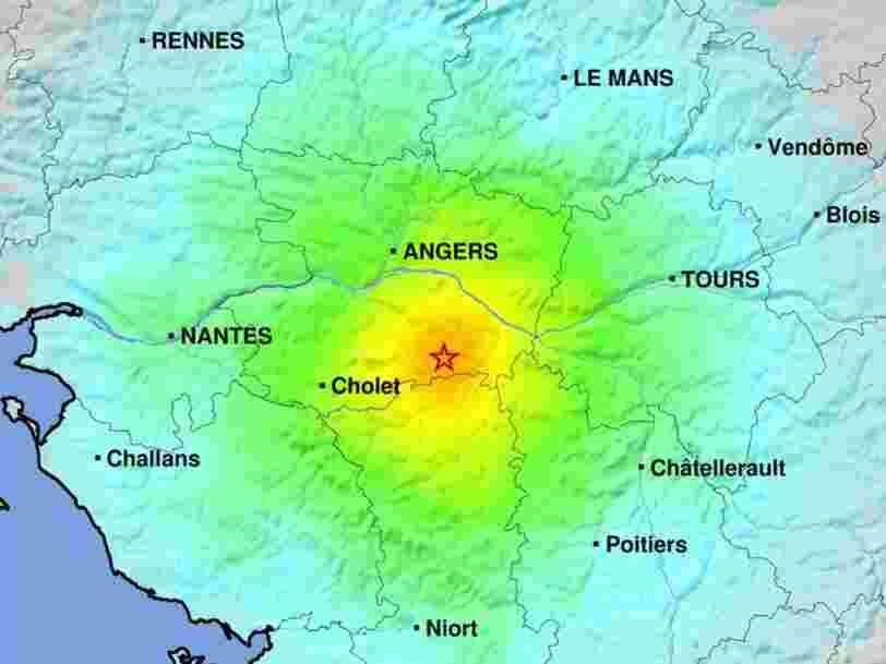 Un tremblement de terre de magnitude 5,1 ressenti de Rennes à Bordeaux