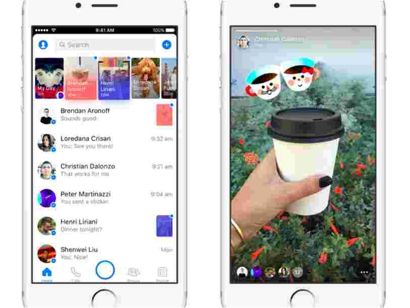 Facebook insère un clone de Snapchat dans Messenger