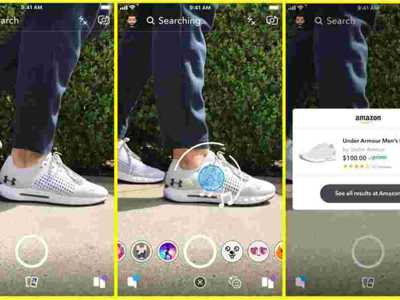 Un nouvel outil de Snapchat permet aux utilisateurs de pointer leur caméra sur un produit pour l'acheter sur Amazon