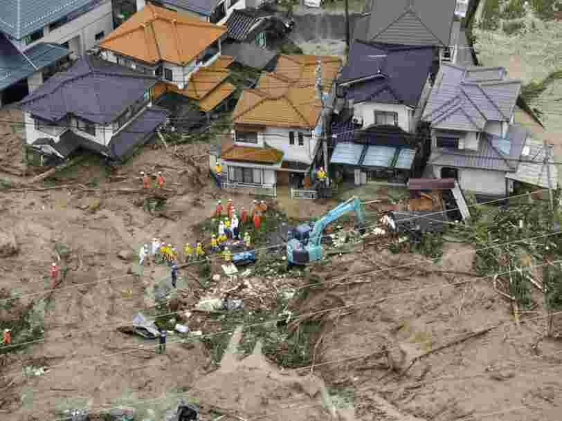 Des pluies torrentielles font au moins 49 morts et 48 disparus au Japon