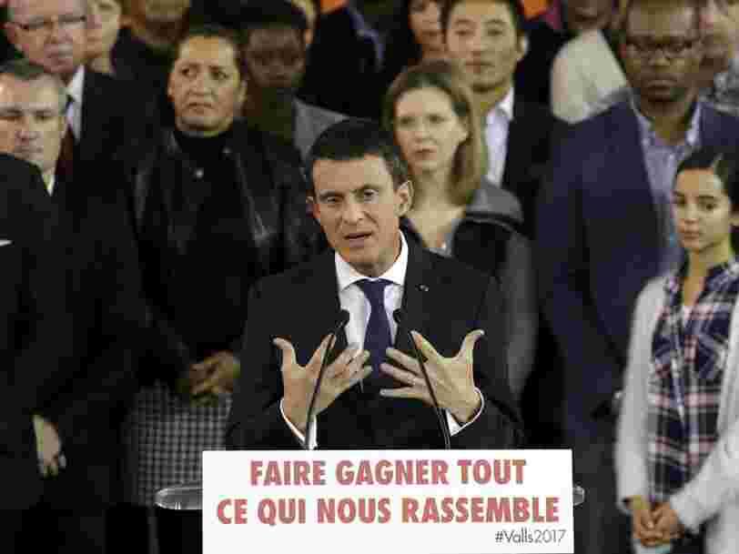 Manuel Valls est candidat à l'élection présidentielle de 2017 et quitte son poste de Premier ministre