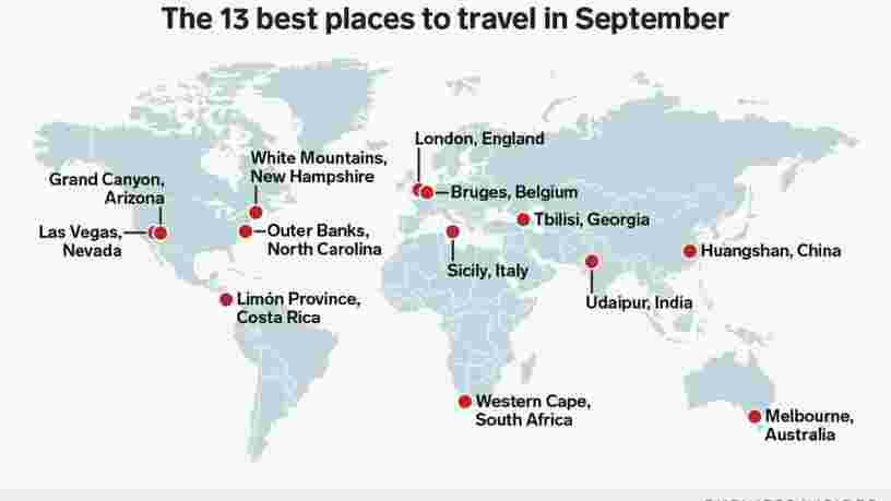 Les 13 meilleurs endroits à visiter en septembre pour chaque type de voyageur