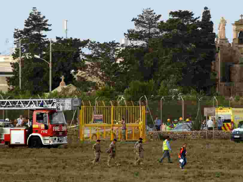 5 Français ont été tués à Malte dans le crash d'un petit avion qui se rendait en Libye