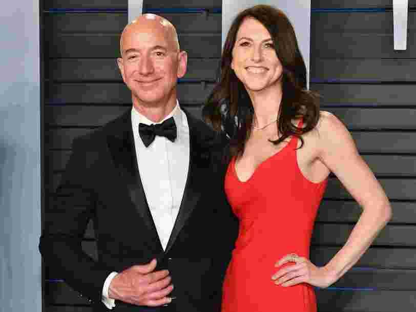 Le patron d'Amazon Jeff Bezos annonce qu'il divorce de sa femme MacKenzie Bezos