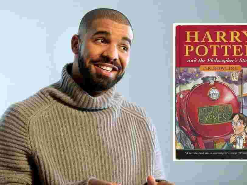 Drake dit qu'il est prêt à payer 160.000$ pour la première édition d'un livre 'Harry Potter' qu'il cherche depuis 4 ans