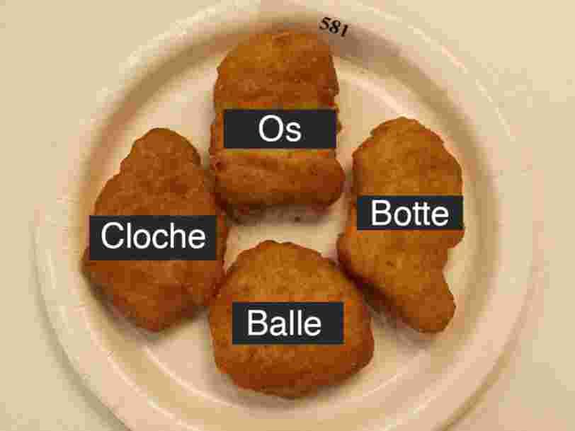 Les nuggets de poulet de McDonald's ont toujours ces quatre mêmes formes — et on sait pourquoi