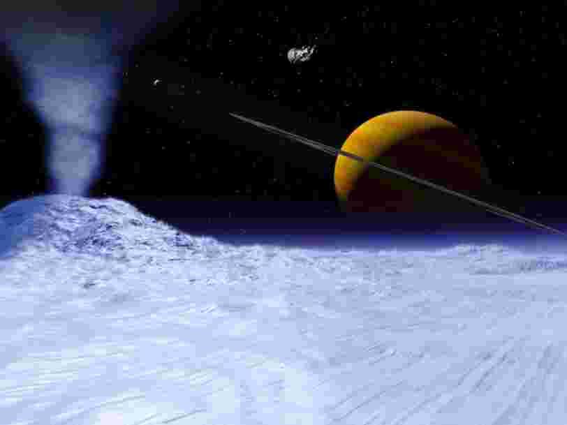 La NASA a découvert la preuve qu'une lune de Saturne pourrait abriter de la vie extraterrestre