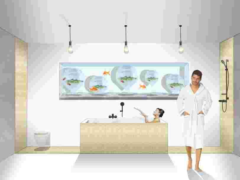 Des architectes français ont imaginé un nouveau concept d'hôtel avec des élevages de poissons et des fermes verticales — voici un aperçu