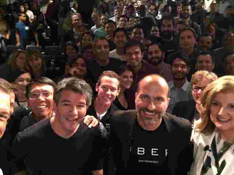 Le nouveau patron d'Uber annonce à ses troupes lors de sa première réunion: 'Ce qui nous a conduit ici n'est pas ce qui nous amènera au niveau supérieur'