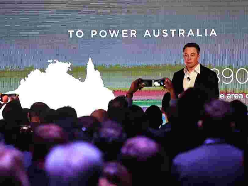 Une province d'Australie veut construire la plus grande centrale solaire virtuelle du monde en reliant les batteries Tesla de 50.000 maisons