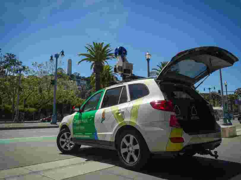 Google peut désormais repérer les routes les plus polluées grâce à ses voitures Street View