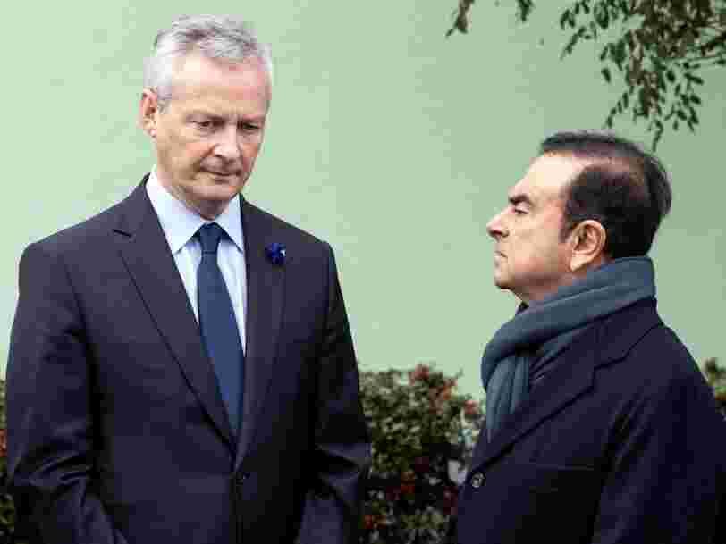 Bruno Le Maire considère que Carlos Ghosn 'n'est plus en état de diriger le groupe' Renault — il demande une gouvernance intérimaire