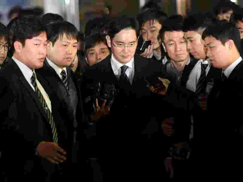 Le patron de Samsung Jay Lee a été arrêté