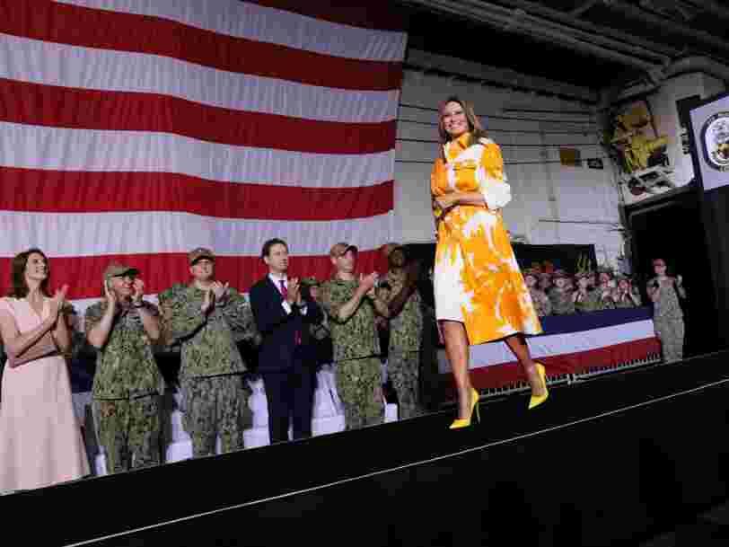 Melania Trump a porté pour plus de 12 000 € de robes durant son voyage de 48h au Japon