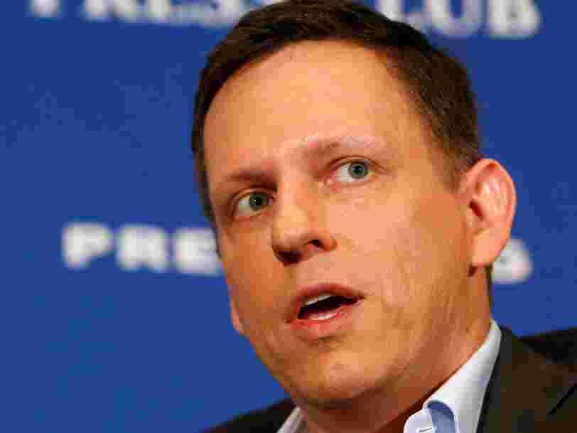 L'investisseur milliardaire Peter Thiel a une façon très simple d'identifier les startups révolutionnaires