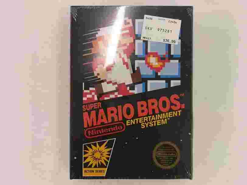 Un exemplaire rare du tout premier 'Super Mario' s'est vendu 30.000$ sur eBay