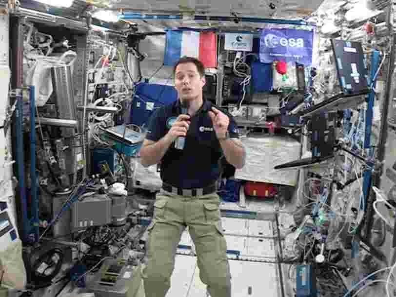 L'astronaute français Thomas Pesquet s'est organisé pour pouvoir voter dimanche tout en étant à 350 km de la terre